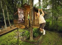 tree house with zip line | tree house/swingset | Pinterest ...