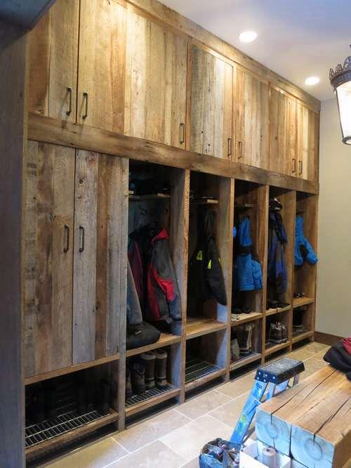 Ski mud room  Chalet basement  Pinterest  Mud rooms Lockers and Ski