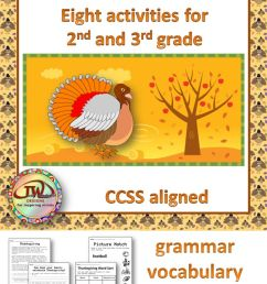 Thanksgiving Writing Activities For 3rd Grade [ 1344 x 672 Pixel ]