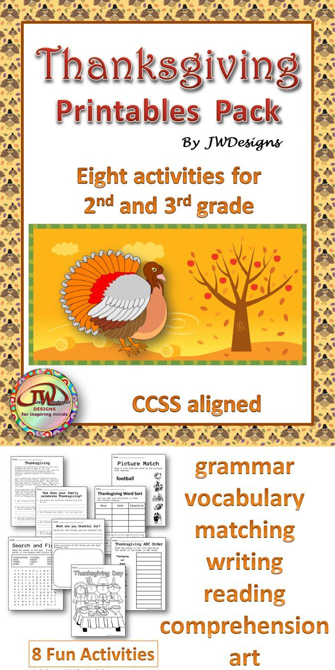 medium resolution of Thanksgiving Writing Activities For 3rd Grade