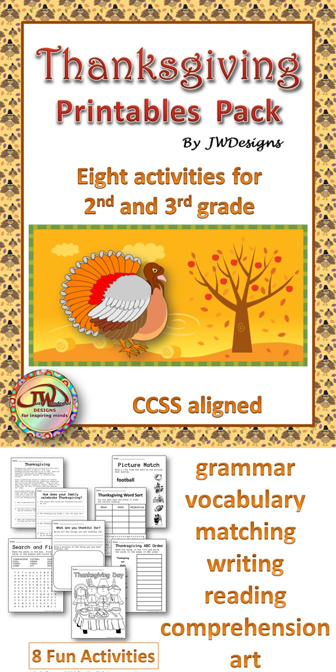 hight resolution of Thanksgiving Writing Activities For 3rd Grade