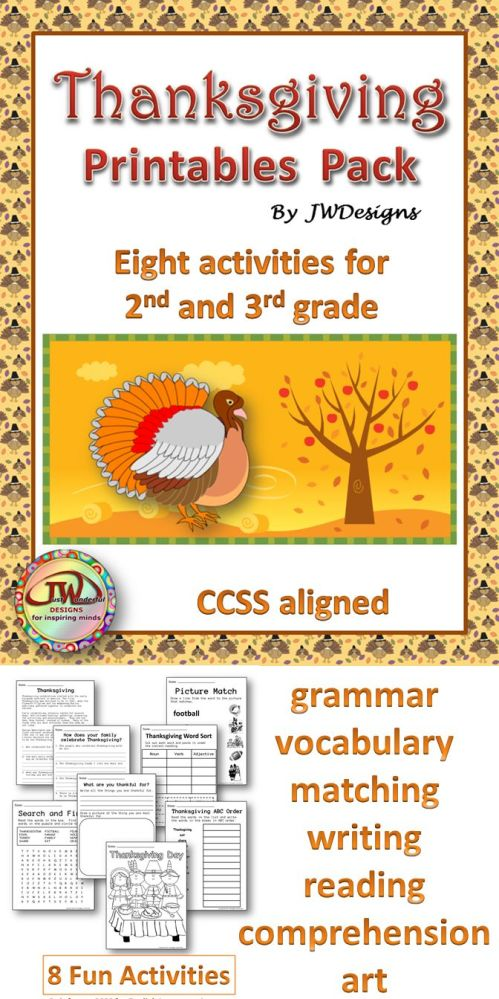 small resolution of Thanksgiving Writing Activities For 3rd Grade