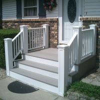 Best 25+ Concrete front steps ideas on Pinterest | Stained ...
