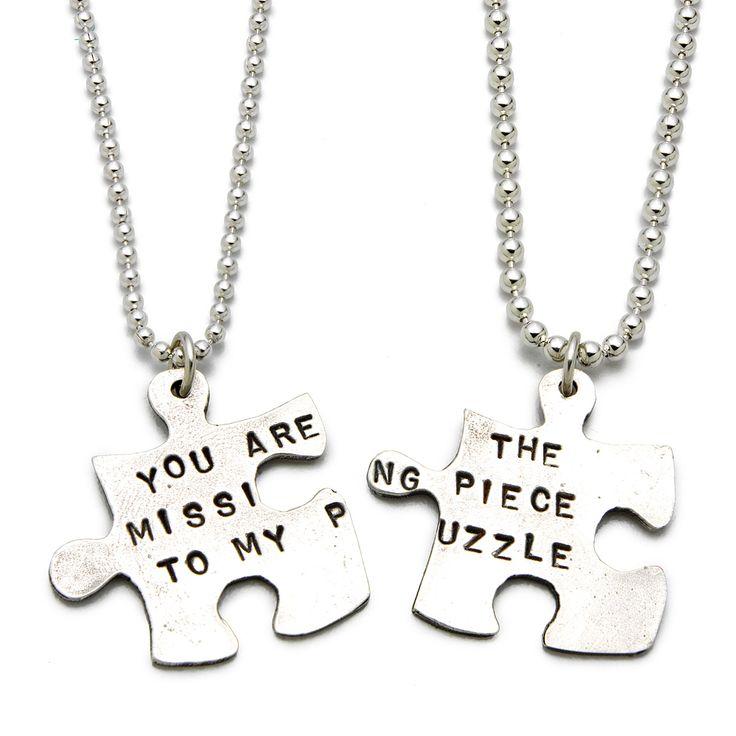 25+ best ideas about Puzzle Piece Necklace on Pinterest