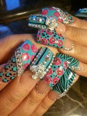 bling long nails