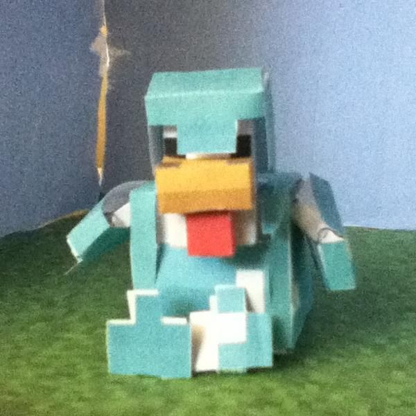 Papercraft Diamond Armor Bendable Chicken N8's Epic