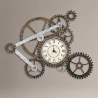 Gear Wall Art with Clock | Industrial, Cost plus and Metal ...