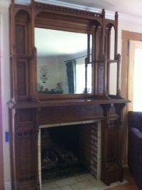 1920's Victorian Style Vintage Fireplace Mantel