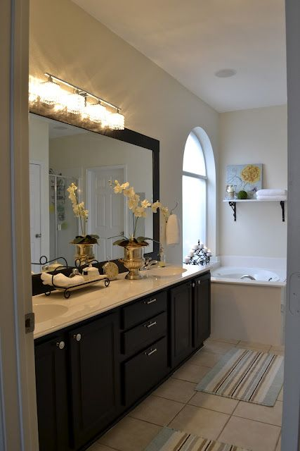 Benjamin Moore Navajo White  For Our Home Master Bathroom  Pinterest  Bathroom cabinets