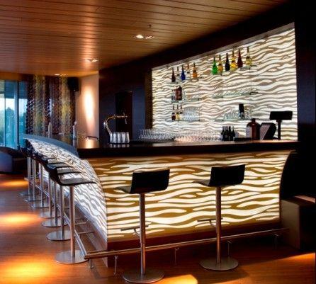 Designed Built Corian Bar Counter  Corian  Pinterest  Bar counter Bar counter design and
