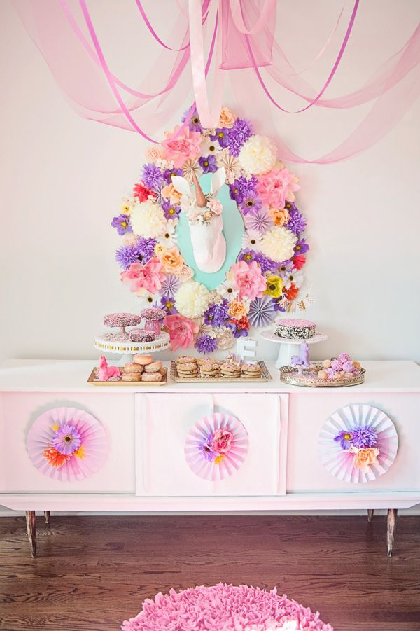 Unicorn Dessert Table by Bubble and Sweet  unicorn  Pinterest  Birthdays Flower and Flower