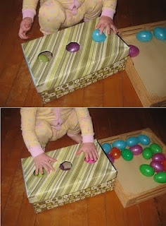 A collection of Easter activities for young children – in the picture shown an a