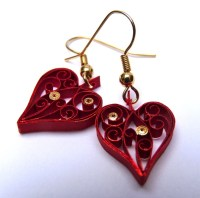 Valentines earrings by Victoria Brewer - Pure Designs ...