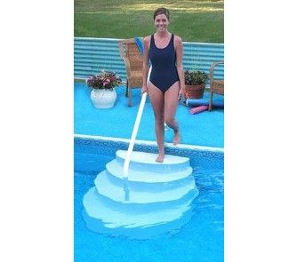 Above Ground Pool Stairs With Hand Rail