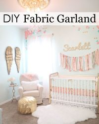 25+ Best Ideas about Fabric Garland on Pinterest | Rag ...