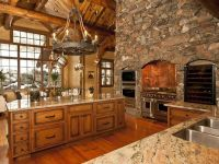 Log Home luxury kitchen- perfect! | Rustic Retreats ...