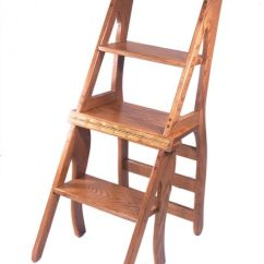 Library Chair Ladder Plans Your Zone Flip Canada Amish Step Stool Combo - Woodworking Projects &