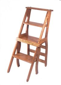 Amish Library Step Stool Chair Combo - WoodWorking ...