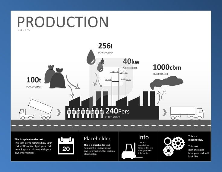 Infographic PowerPoint Templates Visualize Important Data Regarding Your Companys Production