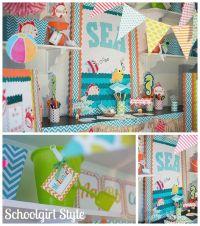 Ocean-Beach-starfish-shark-chevron-classroom-decor-by ...