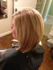 lightly layered long bob hair