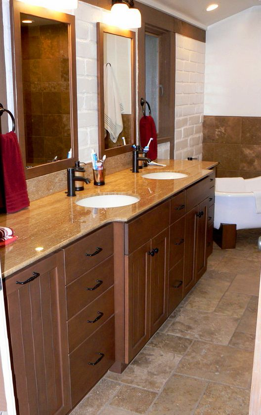 37 best images about Bathroom Design on Pinterest  Santa cruz Wood stain and White vanity