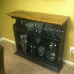 Kitchen Islands Ideas Sears Bar Cabinet Made From Repurposed Hutch Top Turned Upside ...