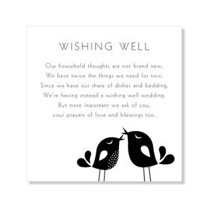 Wishing Well---for wedding situations when a normal gift