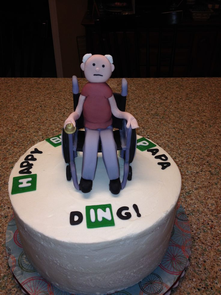 ninja turtles chair colorful desk breaking bad - guy in wheelchair all made from fondant. buttercream icing. | jj cakes ...