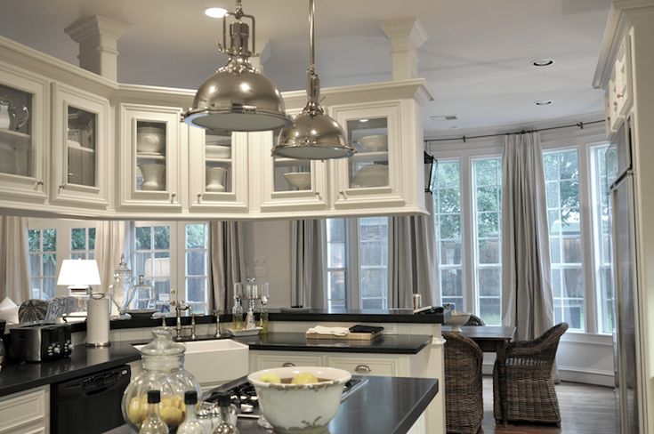 kitchen pendant lights over island industrial lighting for pass through kitchen, cote de texas and on ...