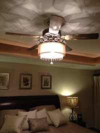 Attach a chandelier to the bottom of ceiling fan