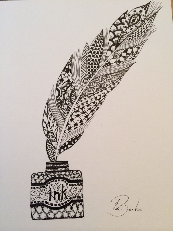 1000 Images About Doodles On Pinterest Feather Tattoos