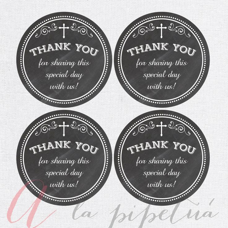 Thank You Favor Tags Baptism Chalkboard Tags Chalkboard