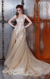 Short Wedding Dresses Champagne Color - Wedding Dresses Asian