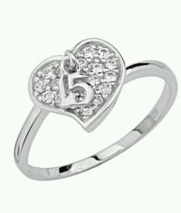 925 Sterling Silver Sweet 15 Fifteen Quinceanera Ring Size ...