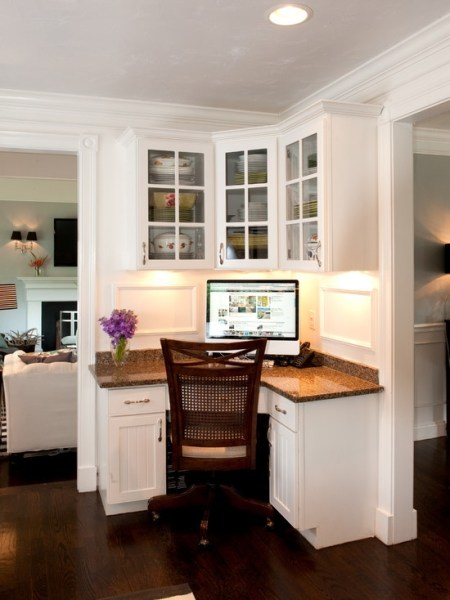 corner desk home office ideas Kitchen built in desk corner station   Home Sweet Home   Pinterest   Basement ideas, Built in