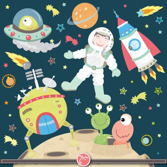 Baby Girl Nursery Removable Wallpaper Weltraum Clipart Quot Outer Space Quot Clip Art Pack Download