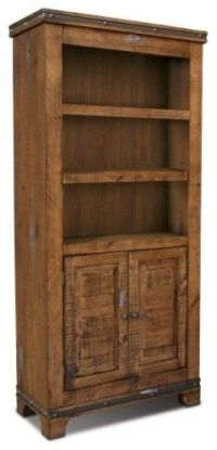 Rustic Reclaimed Solid Wood Bookshelf / Wine Liquor ...