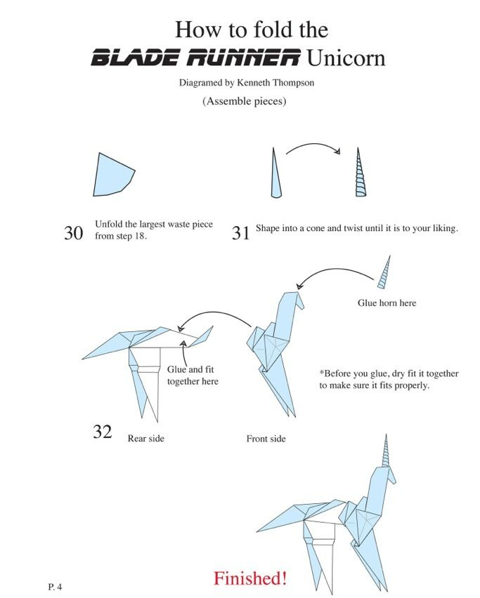 1000+ images about How to make Gaff's Unicorn Origami from