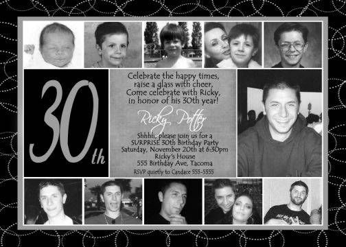 Funny 30th Birthday Invitations For Men Party Planning