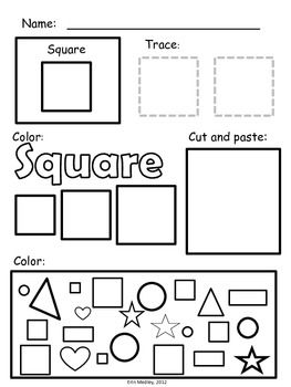 Super Simple Shape Worksheets, PreK-K, Special Education