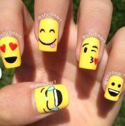 cool emoji nail art
