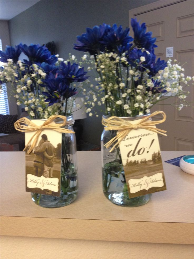 Adorable small centerpieces for the rehearsal dinner