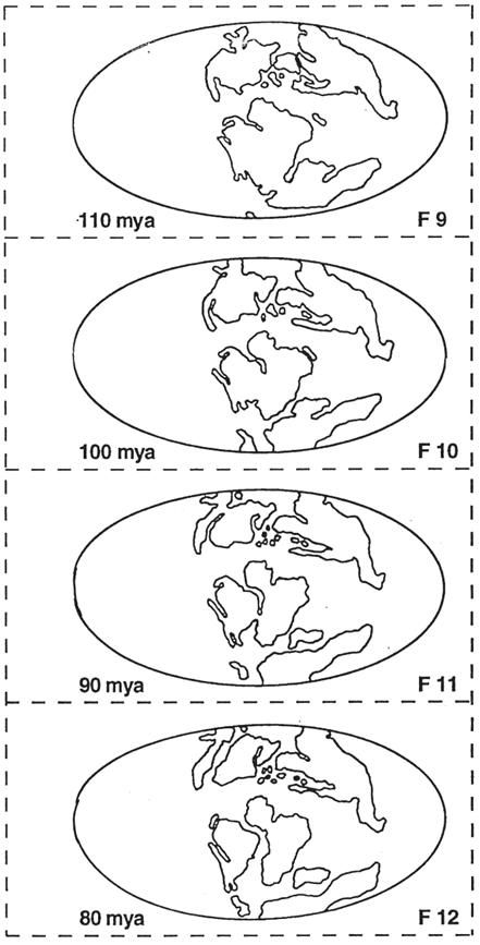 Blank Plate Tectonics Map Sketch Coloring Page