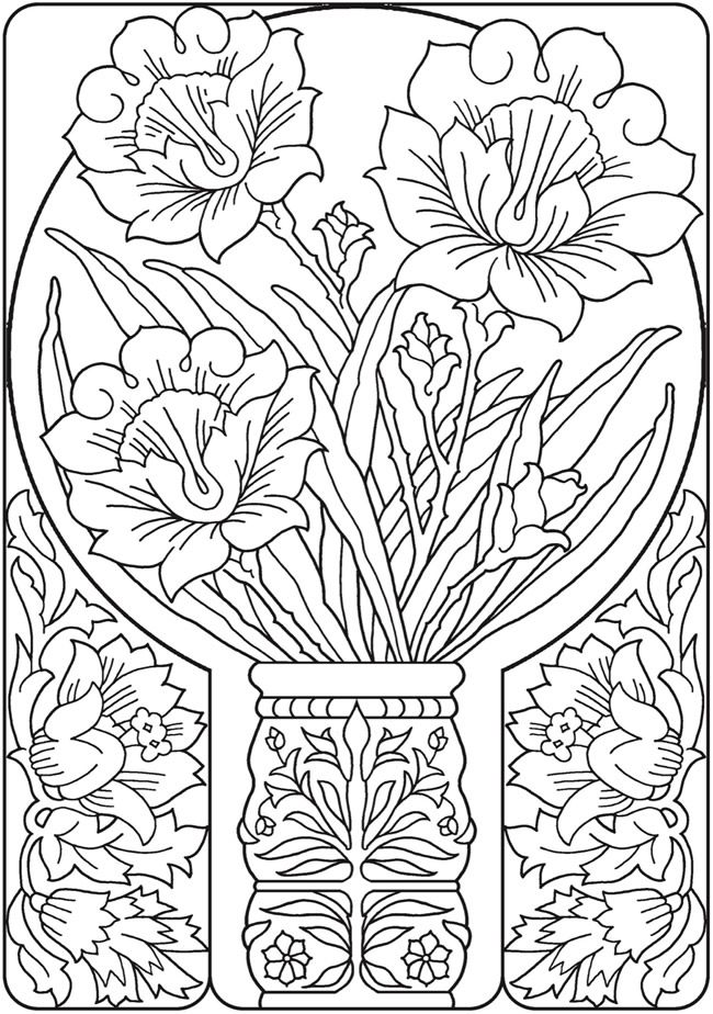 1182 best images about Adult Colouring~Flowers on Pinterest