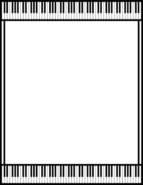 A piano page border. Free downloads at http://pageborders