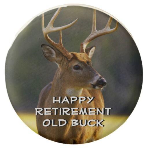 Hunting Funny Deer Happy Retirement Old Buck Chocolate