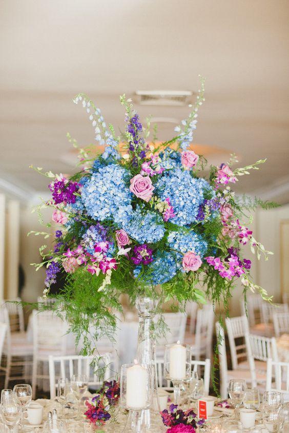 1000 ideas about Blue Centerpieces on Pinterest  Royal
