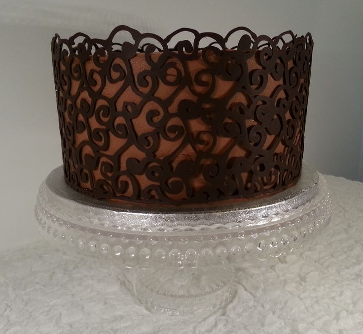 Chocolate Lace Cake Little Touch Of Luxury