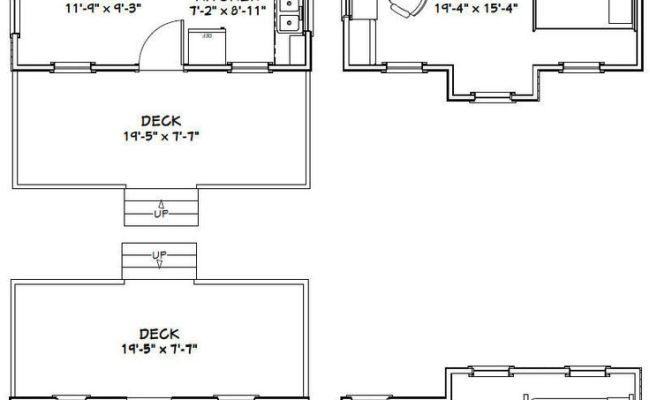 20x16 Tiny Houses Pdf Floor Plans 584 Sq от